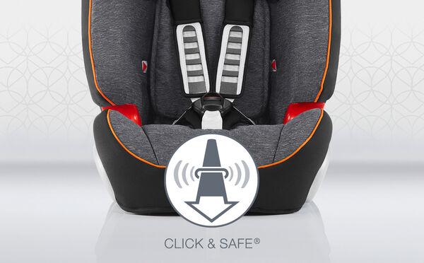Dodatečná bezpečnost a pohodlí – CLICK & SAFE® a nastavitelná šířka